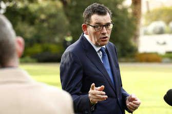 Daniel Andrews spoke to reporters about the full review into the Victorian Labor Party on Wednesday morning.