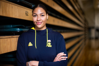Liz Cambage on Wednesday.