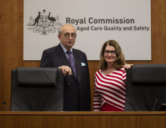 Royal commissioners Tony Pagone, QC, and Lynelle Briggs, are on Thursday hearing final submissions from counsel on future recommendations to reform Australia's aged care system.