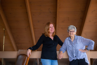 """Rebecca McCabe and Rosemary Crumlin: """"We laugh and talk on the phone most days, around 7am, when Rebecca is driving to work. The difference in age doesn't seem to matter,"""" says Rosemary."""