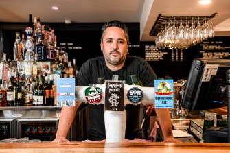 Danial Caneva, owner of Coburg Brewing Co, will finally have fresh beer to sell from next Monday – just four days from Christmas.