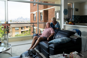 Peter and Lindy Blackhall downsized to an apartment from a four-bedroom house.