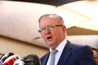 Anthony Albanese in Perth in March.