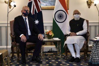 Prime Minister Scott Morrison held a  meeting with Indian Prime Minister Narendra Modi ahead of the Quad meeting at the White House.