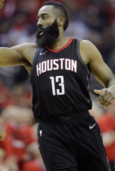 Back in business: James Harden and the Rockets have squared the series.