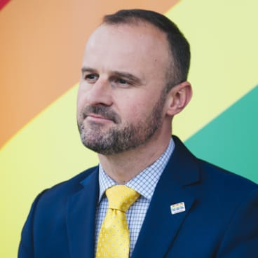 Chief Minister Andrew Barr, who is pushing for the change to Labor's national platform.