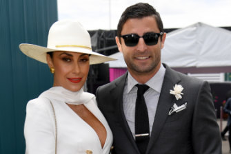 Matching for fashion ... Terry Biviano and Anthony Minichiello.