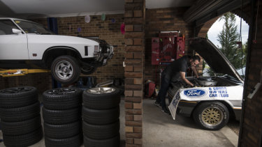 Madani's V8 collection includes a '72 Ford XA Falcon GT (left) and '82 XE Fairmont Ghia ESP.