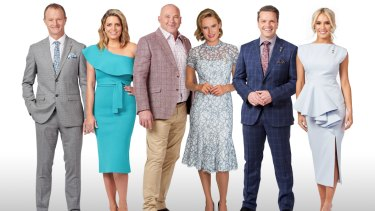 10's Melbourne Cup Carnival experts: David Gately, Caty Price, Peter Moody, Francesca Cumani, Michael Felgate, and Brittany Taylor.