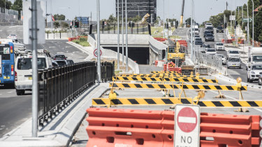 Sydney's West Connex under construction.