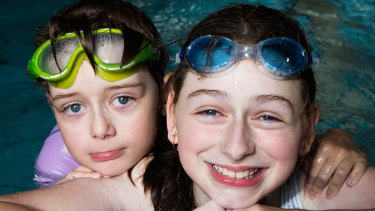 Katelyn and Jane Fountain do weekly swimming lessons at the Aquatic Safety Training Academy at Seven Hills.