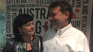 Sharan Burrow, General Secretary of the International Trade Union Confederation with Angelo Gavrielatos, Education International Project Director in Brussels