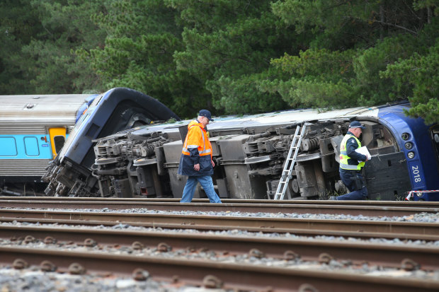 The XPT train derailed at Wallan on Thursday night.