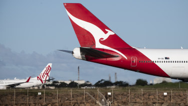 Planes have been grounded at airports around Australia due to travel bans and border closures.