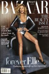 Unbelievably perfect: Elle Macpherson, 56, graces the cover of Harpers BAZAAR Australia.