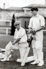 Donald Bradman and William Oldfield in 1928.