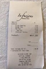 The bill please.