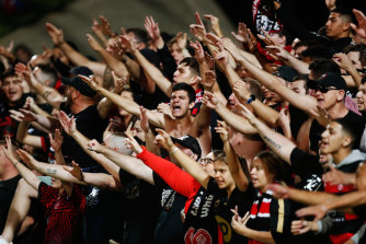 Wanderers fans were in full voice at the last A-League derby in Sydney, but the next one is likely to be closed to the public.