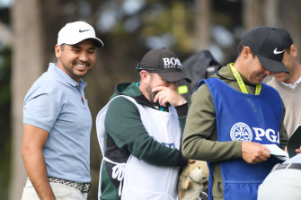 Jason Day is at the right end of the leaderboard after round one of the PGA Championship, to date his only major win in 2015.