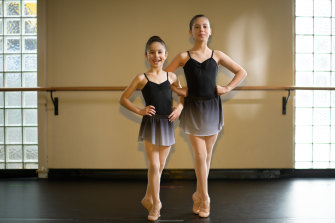 Sisters Themelina and Theodora Rozakis are looking forward to attending school holiday ballet classes.