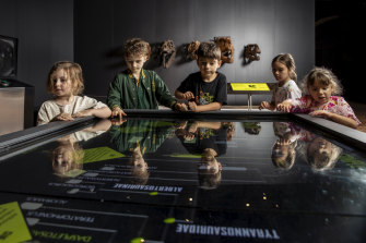 The Australian Museum re-opened its doors with a dinosaur exhibition.