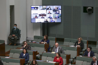 MPs appearing remotely via video conference during Question Time