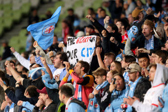 Melbourne City fans show their support.