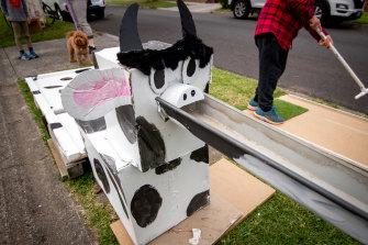 Hole 14 - dubbed Holey Cow - of the Royal Prestbury mini golf tournament.