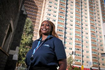"""Collingwood public housing resident Nikol Tap has been trained as a """"health concierge""""."""