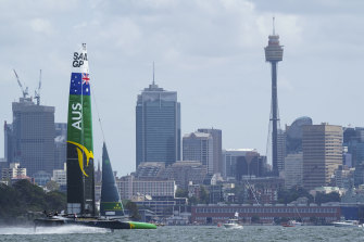 Tom Slingsby's Australian boat on Sydney Harbour in the 2020 opener declared null and void following the outbreak of COVID-19.