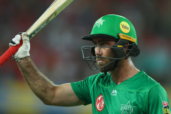 Glenn Maxwell fired with the bat for the Stars but bowled himself in the final over.