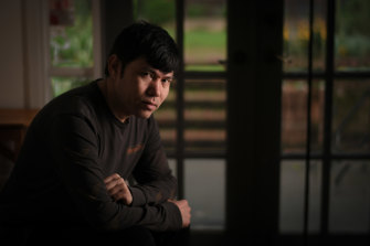 Javid Nazari, 26, is desperate to get his wife to Australia.