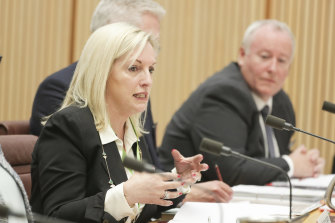 Australia Post chief executive Christine Holgate was repeatedly asked during a Senate hearing whether the company was monitoring senior staff.