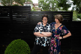 """Lisa Hunt (left) and Jane McAloon: """"When my dad died, Lisa wanted  me to know she was there. But Lisa's always there."""""""