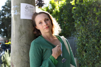 The Sydney woman who has put up posters to help search for an altruistic egg donor.