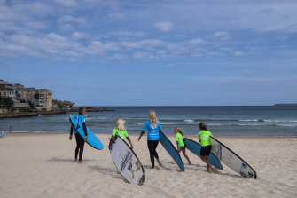 Bondi Beach surf school Let's Go Surfing says Sydney is suffering without tourists.