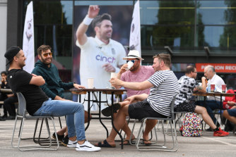 Fans pass the time after the fifth and final Test between England and India was cancelled last minute.