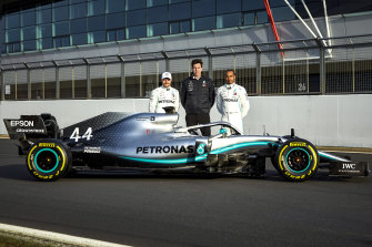 The Mercedes triumvirate of drivers Valtteri Bottas and Lewis Hamilton and principal Toto Wolff (centre) have dominated F1 in recent years.