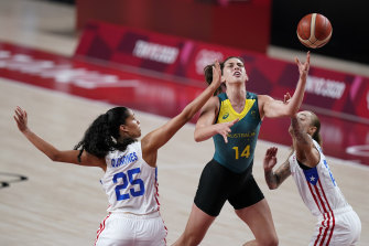 Marianna Tolo put in a huge performance for the Opals.