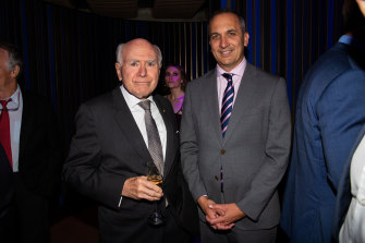 Former prime minister John Howard and NRL chief executive Andrew Abdo