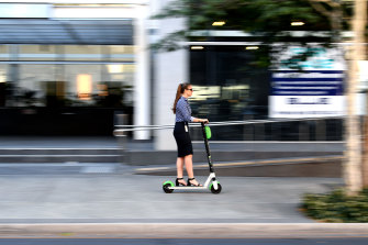 Lauren Barea, a project manager in the  technology sector, is among those who have embraced e-scooters.