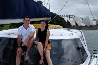 Nick Fabbri, 49, and Terysa Vanderloo, 34, have attracted many followers to their YouTube channel about sailing.