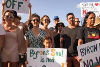 Netflix's plans hit opposition from locals wishing to protect Byron's social fabric, and from its traditional owners.