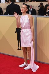 Millie Bobby Brown wearing Converse at the Screen Actors Guild Awards.