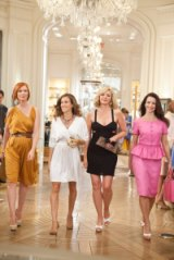 """From left, Cynthia Nixon, Sarah Jessica Parker, Kim Cattrall and Kristin Davis in a scene from """"Sex and the City 2."""""""