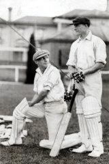 Donald Bradman and William Oldfield in 1928.