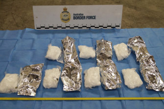 Ice seized by Australian Border Force officials earlier this year.