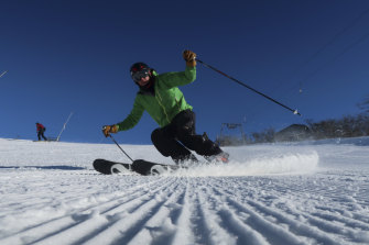Keen skiers were treated to a weekend of excellent conditions.