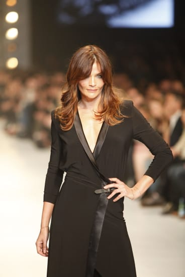 Helena Christensen pictured in 2011, the last time she was at the Melbourne Fashion Festival.