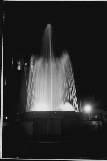 King George Square's fountain, pictured in December 1959.